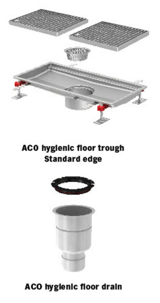 ACO Hygienic Floor Trough - World\'s leader in stainless steel ...