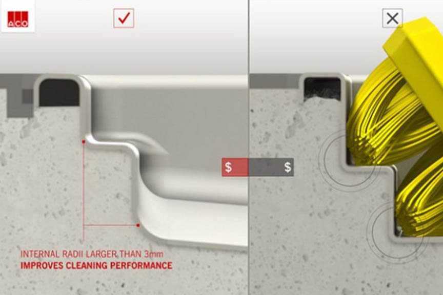 Cleaning & drainage design